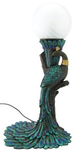 These gorgeous Peacock lamps make lovely art displays for any room in your home. The Peacock is a graceful, majestic bird with beautiful colors. You'll...