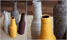 More wrapped bottles- cute blog as well.
