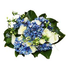 #White #Roses and #Blue #Hyrdangeas #ArtificialFlowers #Australia