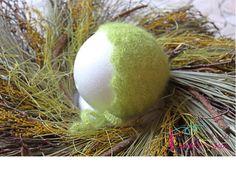 Gehäkelte Haube aus Mohair / Crochet Bonnet