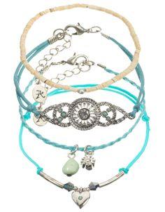 Lux Essouaria Friendship Bracelet Pack | Blue | Accessorize