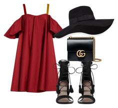"""""""Outfit #584"""" by naleland on Polyvore featuring moda, Anna October, Zimmermann, Gucci, San Diego Hat Co., Fall, love, ootd i autumn"""