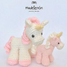 """""""Jaz"""" unicornio Ya estoy escribiendo el patrón """"Fantasía"""" en inglés. En un…"""