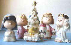 LENOX THE CHRISTMAS PAGEANT Nativity set NEW in BOX w/COA 7 piece Snoopy Peanuts
