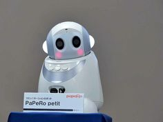 NEC Shows Off New Papero Petit Robot - IEEE Spectrum  As far from Uncanny Valley as you can get. I think it's the cheeks :)