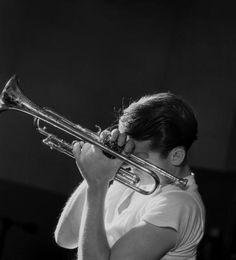 Chet Baker, New York City, 1956 (CHB02) - Herman Leonard - Artists - Jackson Fine Art - Photography - Atlanta