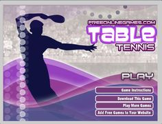 "Would you like to play ‪#‎sportsgame‬ ? Then play ""Table Tennis 2""  ‪#‎tabletennis‬ ‪#‎games‬"