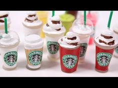 How to make miniature Starbucks WITHOUT Polymer Clay - YouTube