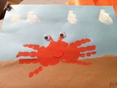 Crab maken groep 1/2 Beach Activities, Activities For Kids, Water Animals, Fantasy Island, Ocean Art, Animals Of The World, Summer Crafts, Under The Sea, Tinkerbell