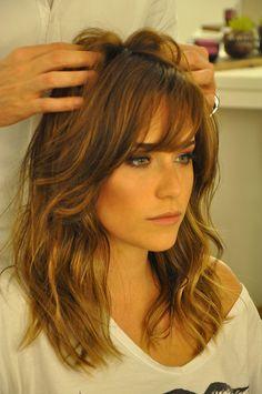 Essas celebridades. Que cabelo mais lindo! <3