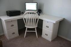 Two Honey Oak File Cabinets Turned Desk Interesting