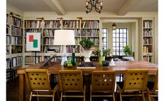 Dining Room/Library in large family apartment in NYC Family Dining Rooms, Living Room, Family Room, Living Spaces, Interior Design Portfolios, Family Apartment, Futuristic Interior, Home Libraries, Great Rooms