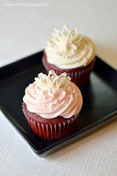 White Chocolate Tiaras & Red Velvet Cupcakes