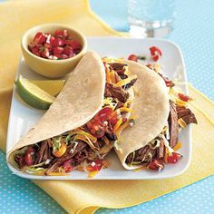 Super Bowl party recipes: Shredded Beef Tacos