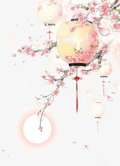 art - Antique Lanterns Painted Peach, Peach Clipart, Pink Peach, Peach PNG Transparent Image a Antique Lanterns, Art Asiatique, Art Japonais, Decoupage Vintage, China Art, China China, Decorating With Pictures, Japan Art, Watercolor Art