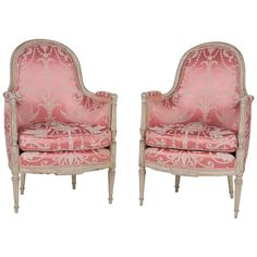 French, Louis XVI Style Bergeres or Armchairs 1