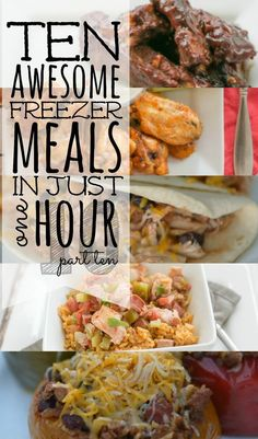 Craving big bold flavor without all the effort? Our newest 10 Meals in an Hour plan shows you exactly how to whip up TEN delicious home cooked meals your family will love! via Living Well Spending Less Make Ahead Freezer Meals, Freezer Cooking, No Cook Meals, Freezer Recipes, Cooking Ham, Slow Cooker Recipes, Cooking Recipes, Cooking Gadgets, Crockpot Meals