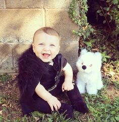 This Jon Snow Game of Thrones Cosplay Stars an Adorable Baby #halloween #kids trendhunter.com