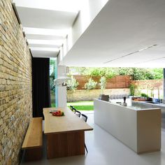 HomeMade by Bureau de Change.   Fantastic extension, linking two terraced houses in the heart of London to become one cohesive and beautiful modern family home.