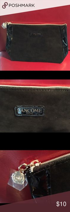 LANCOME Make Up Bag. LANCOME of Paris Make Up Bag. Patent leather sides, faux suede front/back. Never used - brand new. Lancome Bags Cosmetic Bags & Cases