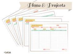 Printable Plans & Projects Organization Essentials | ListLab Organization Printables Shop