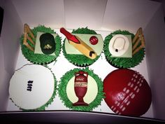 #Ashes #EngvAus #cricket #cupcakes Cricket, Cake Toppers, Fondant, Cupcakes, Sports, Projects, Crafts, Hs Sports, Log Projects