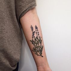 lavender tattoo black and white - Google Search