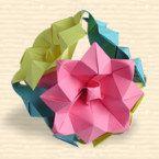 "Kusudama ""Lotus - Free Diagram from my favorite Origami Site"