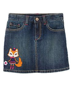 Fox Jean Skort (Gymboree 3-12)