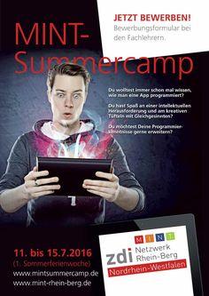 MINT-Summer Camp an der FHDW in Bergisch Gladbach #gl1 - Du wolltest immer schon mal wissen, wie man eine App programmiert? Du hast Spaß an einer intellektuellen Herausforderung und am kreativen Tüfteln mit Gleichgesinnten? …