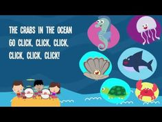 Animals In The Ocean Song Lyrics for Kids   Animals Songs for Preschoolers - YouTube