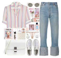 """322. Pastel City"" by ass-sass-in ❤ liked on Polyvore featuring Solid & Striped, Acne Studios, Various Projects, Karl Lagerfeld, Ilia, Prada, Puma, Band of Outsiders, Sugar Paper and La Perla"
