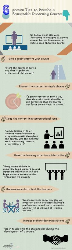 6 Proven Tips to Develop a Remarkable #E-learning Course – An Infographic #elearning #edtech via Commlabindia.com