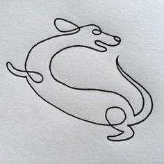 Modern dog line drawing I love you. via @the_b_lair #instagram #illustration #draw #lines #art #print
