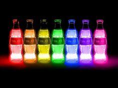 coca cola, colors, and coke kép Coca Cola Bottles, Alcohol Bottles, Liquor Bottles, Life Hacks Español, Nuka Cola Quantum, Fallout Wallpaper, Neon, Cool Backgrounds, Tumi