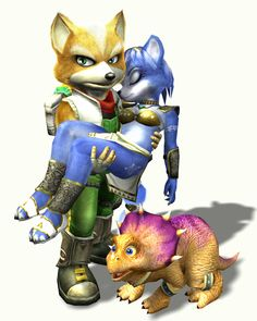 Krystal is the Damsel in Distress in the 2002 Nintendo Game Cube title Star Fox Adventures. She is trapped in a crystal up until the end when she is rescued by Fox McCloud. Ironic, considering that she was originally intended to be the protagonist. In later games she replaces Peppy Hare to become the only main female star fighters in the crew of four.  #damselindistress #loveinterest #smurfette