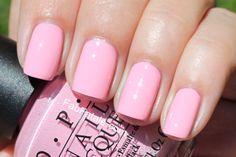 Nicki Minaj OPI Collection Swatches Pink Friday - Pink Cream Nail Polish