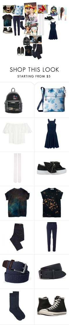 """Y!OI europe Disney land"" by crythin ❤ liked on Polyvore featuring Loungefly, Harveys, Valentino, Finders Keepers, Marieyat, Joshua's, Geox, Trussardi, Lands' End and Lacoste"