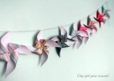 paper garlands, crafti thing, pinwheels, crafti ma, buntings, papers, pinwheel bunt, crafti idea, crafts
