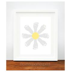 Baby Girl Nursery Decor  Daisy Baby Footprint by PitterPatterPrint, $30.00