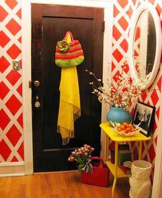colorful small space design sponge