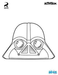 Vader angry birds coloring page