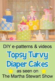 How To Make Diaper Cakes and other baby shower decorations