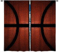 Basketball Theme Window Curtain