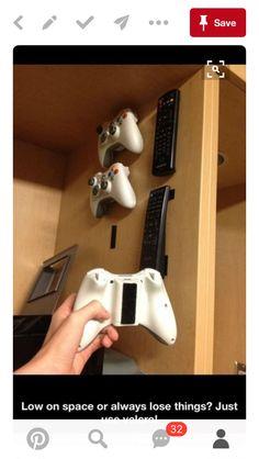 Good way to organize video game stuff!