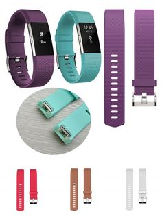 [Visit to Buy] Good strap For Fitbits charge 2 Band Silicone Strap charge 2 strap Diamond heart rate smart bracelet stainless steel buckle #Advertisement
