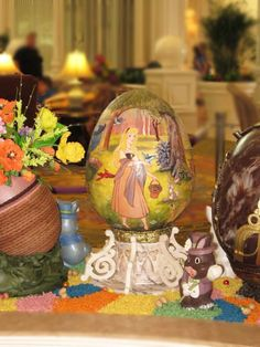 Each of the eggs was inspired by a different Disney movie or famous work of art. | These Disney Easter Eggs Will Blow Your Mind