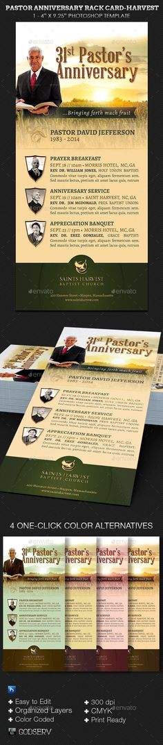 Pastor Anniversary Harvest Template Kit  Church Anniversaries