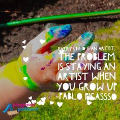 Lil' M's tiny artistic hand wields a mighty brush! It was almost as great a piece of finished art as her painting #kidsneedplay #kidbloggersofIG