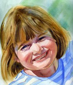 Daphne Watercolor Portrait
